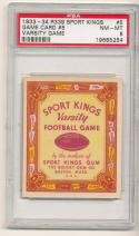 1933 r339 sports kings game card #5 psa 8 nr mt