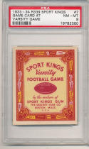 1933 r339 sports kings game card #7 psa 8 nr mt