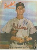 1955 Herb Score Signed Beisbol magazine