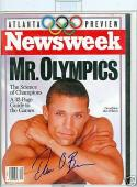 Newsweek magazine 1996 Dan Obrien Decathlete signed issue olympics rwc