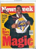 Newsweek 1996 Magic Johnson Los angeles Lakers signed no label magazine  rwc
