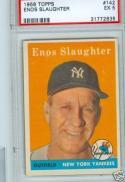 1958 Topps Enos Slaughter #142 psa 5 yankees