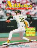 ALCS 1990 Championship Program | A's vs. Red Sox | Oakland A's Bob Welch