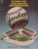 ALCS 1981 Championship Program - Oakland A's vs. NY Yankees