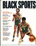 1971 April Black Sports magazine Oscar Roberson & lew alcindor