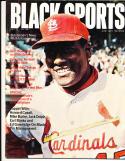 1971 June Black Sports magazine Bob Gibson St. Louis Cardinals