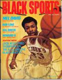 1972 April Black Sports magazine Mel Davis st. John's