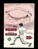 april 1969 Seatle Pilots vs White Sox  baseball program scored opening game!