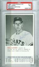 1964 topps rookie a/s Hal Lannier psa 7 #17 Giants