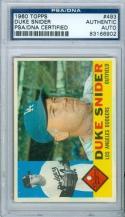 1960 TOPPS Duke Snider PSA/DNA signed