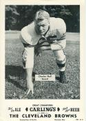 1954 Cleveland Browns Team Issue Set (10) Carling Beer