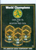 1975 ALCS Game program a's red sox Championship
