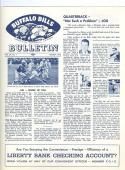 1962 march Buffalo Bills Bulletin newsletter