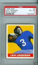 1948 Leaf Levi jackson psa 4 #5 blue jersey
