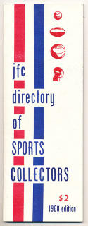 JFC Directory of Sports Collectors 1968 edition - rare early collectors list