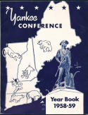 1958 Yankee Conference football Press Guide 40 pages