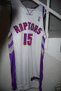 2000-2001 Vince Carter Toronto Raptors game used jersey