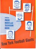 1953 New York Giants Football Press Media guide em