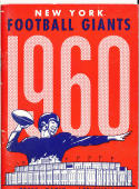 1960 New York Giants Football Press Media guide em