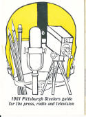 1961 Pittsburgh Steelers  Football Press Media guide em corner crease