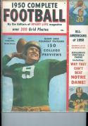 1950 Complete Football magazine em