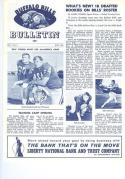 1964 July Buffalo Bills Bulletin nmt