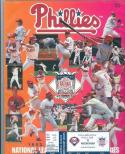 1993 NLCS Phillies program and ticket