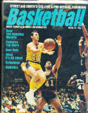 1970 -71 Street Smith Basketball yearbook Guide Jerry West Los Angeles Lakers em