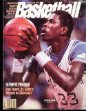 1983 Street Smith Basketball yearbook Patrick Ewing Georgetown