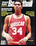 1986 Street Smith Basketball yearbook Guide Akeem Olajuwon Houston Rockets