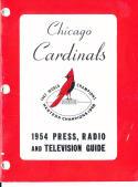1954 Chicago Cardinals Football Press media Guide      bx fg1