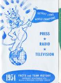 1954 Detroit Lions Football Press media Guide      bx fg1
