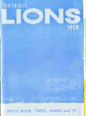 1959 Detroit Lions Football Press media Guide      bx fg1