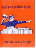 1959 New York Giants Football Press media Guide      bx fg1