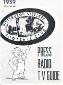 1959 Pittsburgh Steelers Football Press media Guide      bx fg1