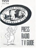 1959 Pittsburgh Steelers Football Press media Guide      bx fg1