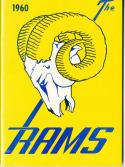 1960 Los Angeles Rams Football Press media Guide      bx fg1