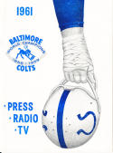 1961 Baltimore Colts Football Press media Guide      bx fg1