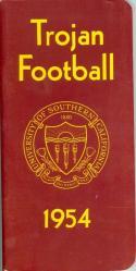 1954 USC Football Press Media Guide nm   f21