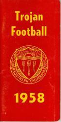 1958 USC Football Press Media Guide nm  f21