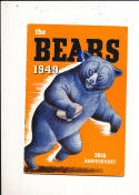 1949 Chicago Bears yearbook press guide em