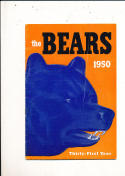 1950 Chicago Bears yearbook press guide em