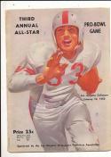 1953 third annual pro bowl football program