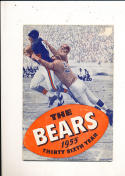 1955 Chicago Bears yearbook press guide em