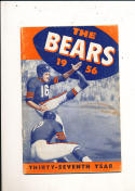 1956 Chicago Bears yearbook press guide ex