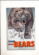 1958 Chicago Bears yearbook press guide em/nm
