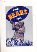 1961 Chicago Bears yearbook press guide nm