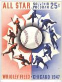 1947 All Star Scored Program Signed  Johnny Mize