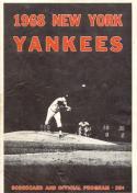 1968 Yankees Twins Scorecard Mantle 2 HR game