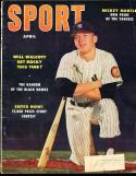 1953 April Sport Magazine New York Yankees label em